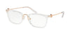 Michael Kors CAPTIVA MK4054 Rectangle Eyeglasses  3105-CRYSTAL CLEAR 52-20-140 - Color Map clear