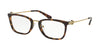 Michael Kors CAPTIVA MK4054 Rectangle Eyeglasses  3336-DARK TORTOISE 54-20-140 - Color Map tortoise