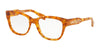 Michael Kors COURMAYEUR MK4059F Square Eyeglasses  3339-AMBER TORT 52-18-140 - Color Map amber