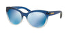 Michael Kors MITZI I MK6035 Cat Eye Sunglasses  312255-BLUE CLEAR GRADIENT 53-18-135 - Color Map blue