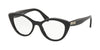 Miu Miu CORE COLLECTION MU01RVA Cat Eye Eyeglasses  K9T1O1-BLACK TOP GREY 52-18-140 - Color Map black