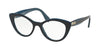 Miu Miu CORE COLLECTION MU01RVA Cat Eye Eyeglasses  TMY1O1-BLUE/TOP OPAL BLUE 52-18-140 - Color Map blue