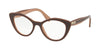 Miu Miu MU01RVA Cat Eye Eyeglasses  U451O1-CAMMEO TOP TRANSP BROWN 52-18-140 - Color Map light brown