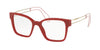 Miu Miu MU02PV Square Eyeglasses  USL1O1-RED 51-18-145 - Color Map red