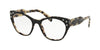 Miu Miu CORE COLLECTION MU02RV Square Eyeglasses  ROK1O1-TOP BLACK ON SAND HAVANA MORO 52-18-140 - Color Map black