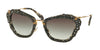 Miu Miu MU04QS Cat Eye Sunglasses  DHE0A7-HAVANA MARBLE WHITE/BLACK 55-24-140 - Color Map havana