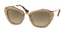 Miu Miu MU04QS Cat Eye Sunglasses  MAR3D0-OPAL BEIGE 55-24-140 - Color Map light brown