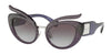 Miu Miu MU04TS Irregular Sunglasses  07H3E2-TRANSPARENT VIOLET 53-23-140 - Color Map violet