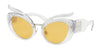 Miu Miu MU04TS Irregular Sunglasses  TIA140-TRANSPARENT 53-23-140 - Color Map clear