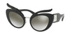 Miu Miu MU04TS Irregular Sunglasses  VW35O0-BLACK 53-23-140 - Color Map black