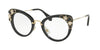 Miu Miu MU05PV Cat Eye Eyeglasses  1AB1O1-BLACK 50-24-140 - Color Map black