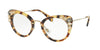 Miu Miu MU05PV Cat Eye Eyeglasses  7S01O1-LIGHT HAVANA 50-24-140 - Color Map havana