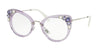 Miu Miu MU05PV Cat Eye Eyeglasses  U691O1-TRANSPERENT LILAC 50-24-140 - Color Map violet