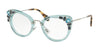 Miu Miu MU05PV Cat Eye Eyeglasses  VAA1O1-TRANSPARENT AZURE 50-24-140 - Color Map light blue