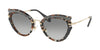 Miu Miu CORE COLLECTION MU05SS Cat Eye Sunglasses  79A3M1-GREY HAVANA/BROWN 52-23-140 - Color Map havana