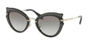 Miu Miu CORE COLLECTION MU05SS Cat Eye Sunglasses  VIE0A7-BLACK 52-23-140 - Color Map black