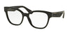 Miu Miu MU06OV Square Eyeglasses  1AB1O1-BLACK 54-17-140 - Color Map black