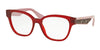 Miu Miu MU06OV Square Eyeglasses  TKW1O1-OPAL BORDEAUX 52-17-140 - Color Map bordeaux