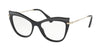 Miu Miu MU06PVA Cat Eye Eyeglasses  VIE1O1-BLACK 53-17-140 - Color Map black