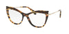 Miu Miu MU06PVA Cat Eye Eyeglasses  VIF1O1-LIGHT HAVANA 53-17-140 - Color Map havana