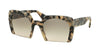 Miu Miu MU06QS Rectangle Sunglasses  KAD1E0-WHITE HAVANA 53-23-140 - Color Map havana