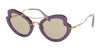Miu Miu MU11RS Irregular Sunglasses  USV5J2-VIOLET 52-26-145 - Color Map violet