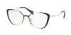 Miu Miu CORE COLLECTION MU51QV Butterfly Eyeglasses  VYD1O1-PALE GOLD/GREY/BLACK 53-17-145 - Color Map black