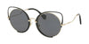 Miu Miu CORE COLLECTION MU51TS Irregular Sunglasses  1AB5Z1-PALE GOLD/BLACK 54-22-145 - Color Map black