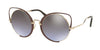 Miu Miu CORE COLLECTION MU51TS Irregular Sunglasses  R1J2H2-PALE GOLD/BROWN 54-22-145 - Color Map brown