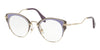 Miu Miu MU52PV Cat Eye Eyeglasses  U671O1-PALE GOLD/VIOLET/ARGIL 48-23-145 - Color Map multi