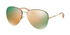 Miu Miu MU53PS Pilot Sunglasses  ZVN2D2-PALE GOLD 60-15-140 - Color Map gold