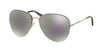 Miu Miu MU53PS Pilot Sunglasses  ZVN2E2-PALE GOLD 60-15-140 - Color Map gold