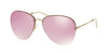 Miu Miu MU53PS Pilot Sunglasses  ZVN4L2-PALE GOLD 60-15-140 - Color Map gold