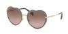 Miu Miu CORE COLLECTION MU54RS Irregular Sunglasses  U6H5P1-MATTE BEIGE 52-20-140 - Color Map light brown