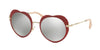 Miu Miu CORE COLLECTION MU54RS Irregular Sunglasses  USS2B0-RED 52-20-140 - Color Map red