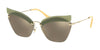 Miu Miu SPECIAL PROJECT MU56TS Irregular Sunglasses  BY61C0-OPAL SAGE 63-16-145 - Color Map green