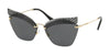 Miu Miu SPECIAL PROJECT MU56TS Irregular Sunglasses  XEJ1A1-DARK GREY TRANSPARENT 63-16-145 - Color Map grey
