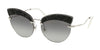 Miu Miu CORE COLLECTION MU58TS Cat Eye Sunglasses  U983M1-SILVER 65-17-145 - Color Map silver