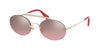 Miu Miu CORE COLLECTION MU60TS Oval Sunglasses  ZVN095-PALE GOLD 54-19-140 - Color Map gold