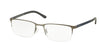 Polo PH1150 Rectangle Eyeglasses  9278-MATTE GUNMETAL 53-18-145 - Color Map gunmetal