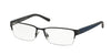 Polo PH1152 Rectangle Eyeglasses  9119-MATTE BLUE 56-17-140 - Color Map blue