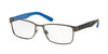 Polo PH1157 Rectangle Eyeglasses  9050-MAT GUNMETAL 57-17-150 - Color Map gunmetal