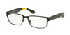 Polo PH1160 Rectangle Eyeglasses  9304-SEMISHINY BLACK 56-16-145 - Color Map black