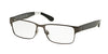 Polo PH1160 Rectangle Eyeglasses  9307-MATTE DARK GUNMETAL 54-16-145 - Color Map gunmetal