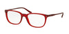 Polo PH2156 Pillow Eyeglasses  5458-SHINY SEMI TRASPARENT RED 51-18-140 - Color Map grey