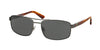 Polo PH3086 Rectangle Sunglasses  926687-SEMI SHINY GUNMETAL 58-17-140 - Color Map gunmetal