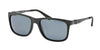 Polo PH4088 Rectangle Sunglasses  528481-MATTE BLACK 55-17-145 - Color Map black