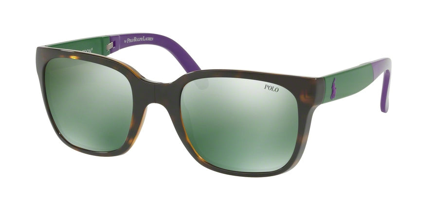 Polo FOLDING PH4089 Square Sunglasses  56516R-SHINY DARK HAVANA 54-22-140 - Color Map havana