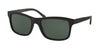 Polo PH4095 Square Sunglasses  552371-MATTE BLACK 57-19-140 - Color Map black