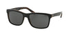 Polo PH4098 Square Sunglasses  526087-TOP BLACK ON JERRY TORTOISE 57-18-145 - Color Map black